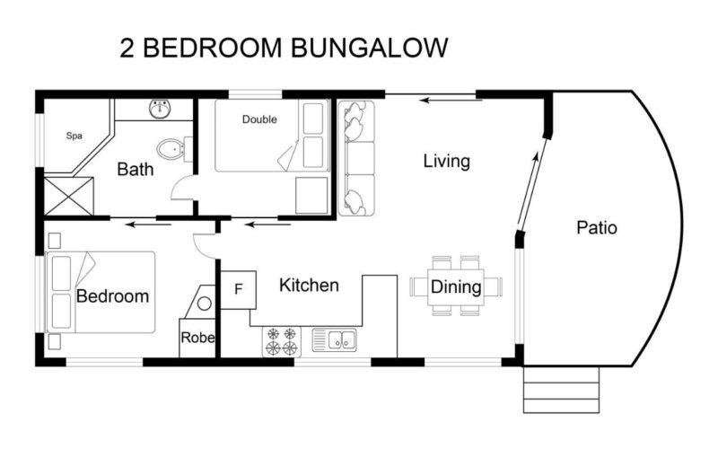 2Br Bungalow Floor Plan