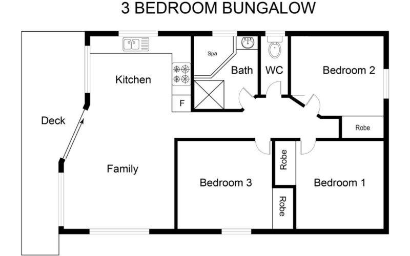 3Br Bungalow Floor plan